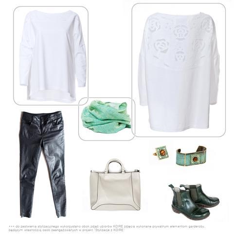 Bluza bawełniana -  stylizacja